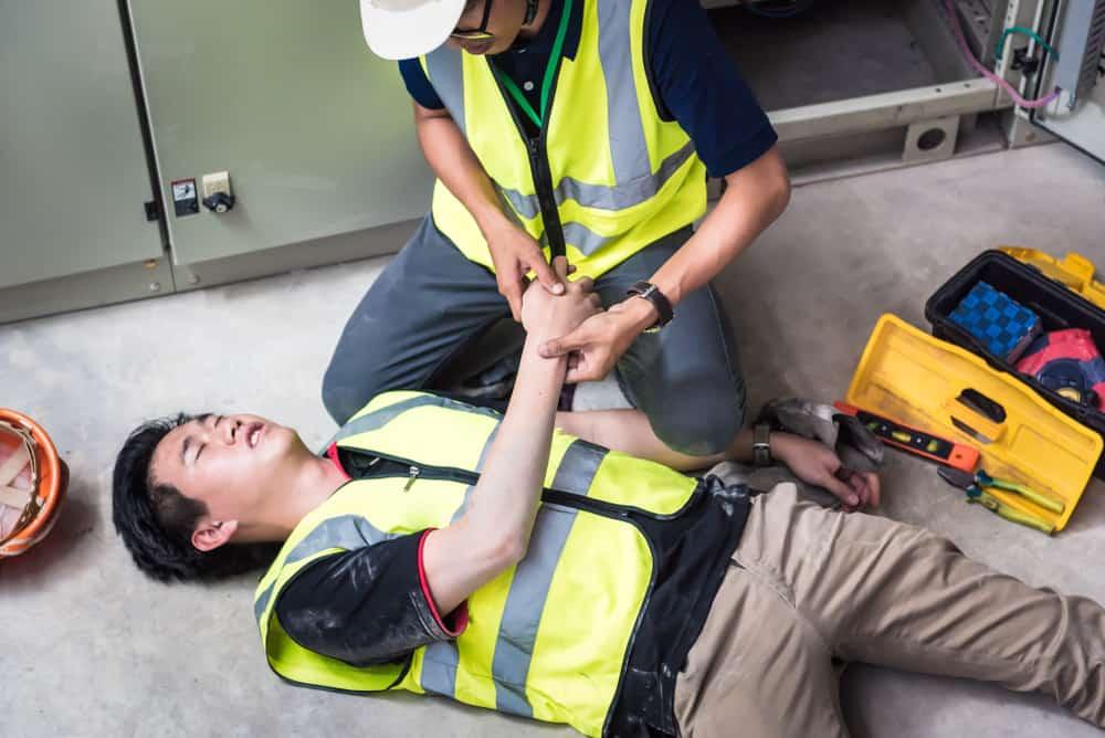 Injured Worker Receiving Treatment